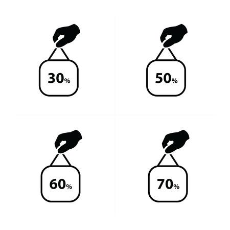 bargain for: Price label set vector