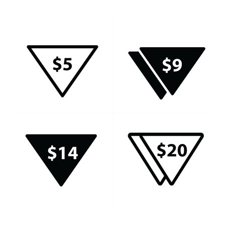 bargain for: Price label set triangle style