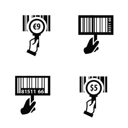 medical scanner: Hand and Zoom Barcode icon