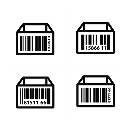 medical scanner: Barcode on Box Icon