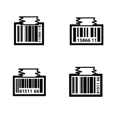 medical scanner: Barcode Design tag icon