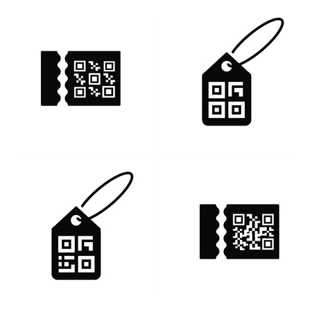 medical scanner: QR code on Price Icon