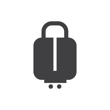 luggage airport icon vector design