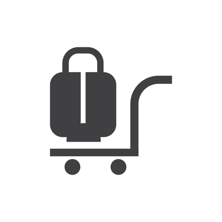 Trolley bag airport icon design.