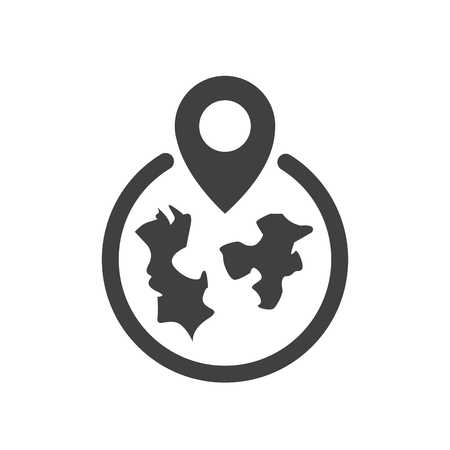 Map airport icon vector design