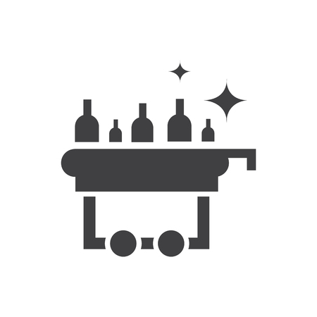 Drink in airport icon design.