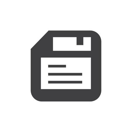 floppy disk: floppy disk icon vector Illustration