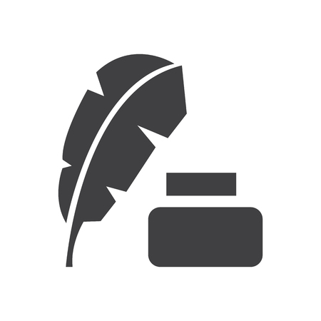 feather brush and ink vector icon design royalty free cliparts rh 123rf com ink vector illustrator ink vector brush