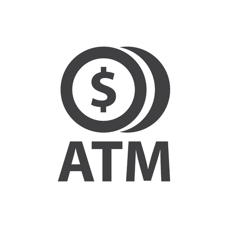 ATM Symbol Icon and logo Design
