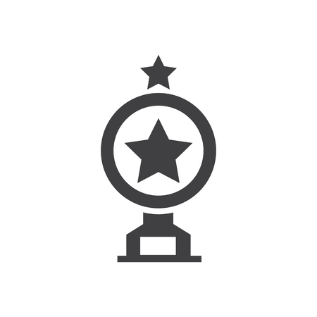 merit: trophy Star Awards vector icons