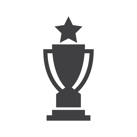 Champion trophy Awards vector icons