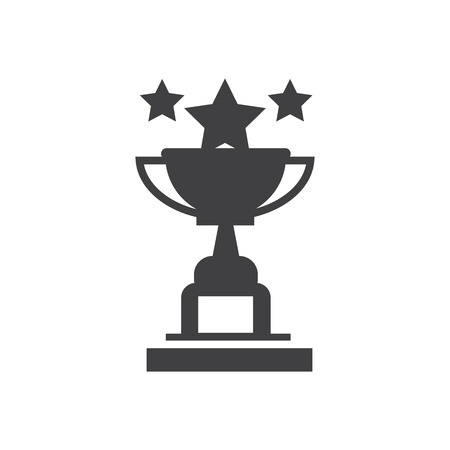 Star Cup trophy Awards vector icons