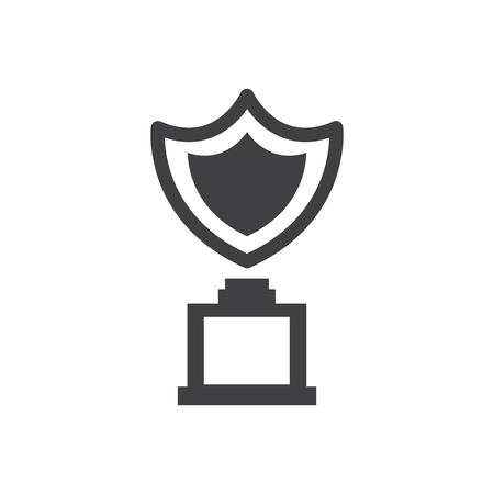 shield trophy Awards vector icons Çizim