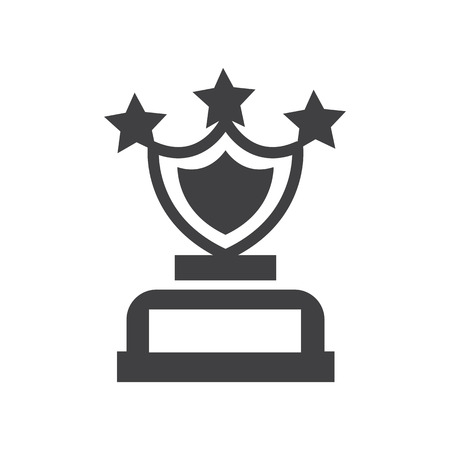 shield Star trophy Awards vector icons Çizim