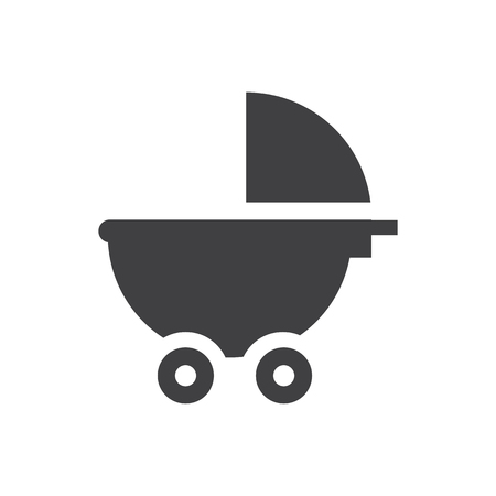 Stroller baby icon symbol