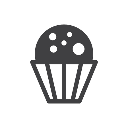 cup cake monochrome bakery icon
