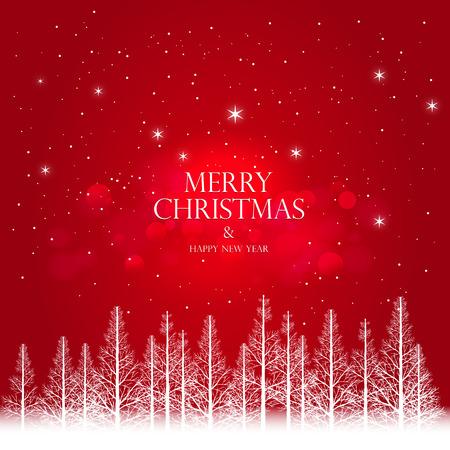 Merry Christmas Landscape illustrations . Vector