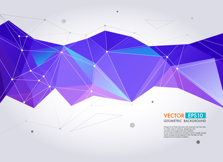 Abstract  geometric background. Vector Polygon Illustration