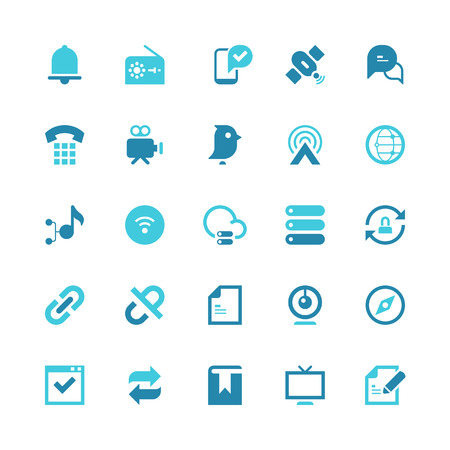 Set of 25 communication vector icons.  Vector