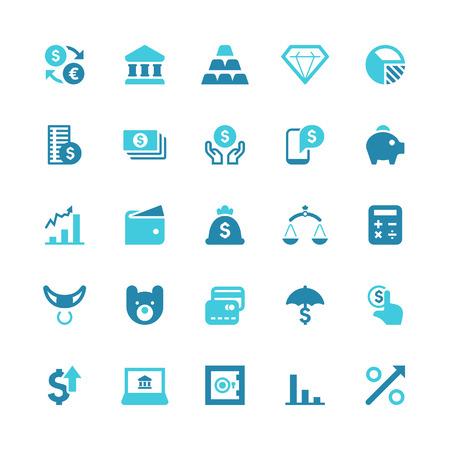 Set of 25 Financial  vector icons Vector