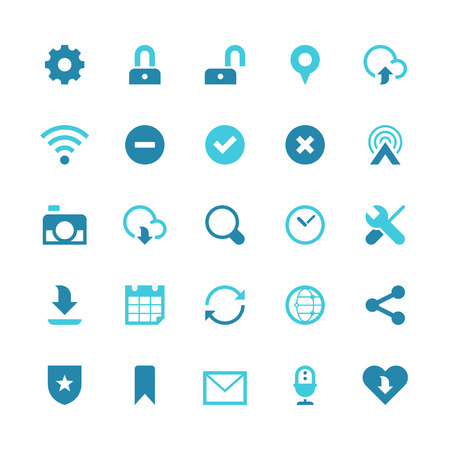 Set of 25 web & communication vector icons.  Vector