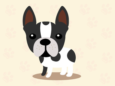 Cute dog  - vector set of icons and illustrations  イラスト・ベクター素材