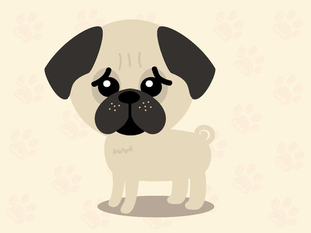 dog breeds: Cute dog - vector set of icons and illustrations