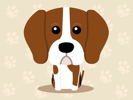 Cute dog sitting - vector set of icons and illustrations Vector