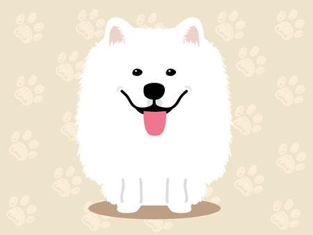 samoyed: Cute dog  - vector set of  illustrations