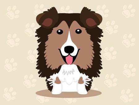 Cute dog  - vector set of  illustrations