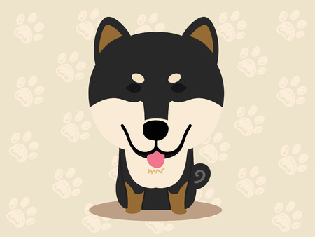 Cute dog  - vector set of  illustrations
