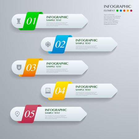 lable: Infographic with white lable on the grey background. Eps 10 vector file
