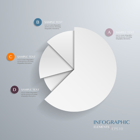Business Pie Chart on the grey background. Eps 10 vector file Vector