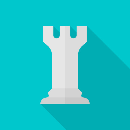 interface scheme: Chess flat icon with long shadow on color background , vector illustration , eps10 Illustration