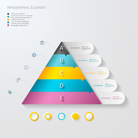 3d triangle: modern vector abstract 3d triangle  infographic elements.can be used for workflow layout, diagram, number options, web design.  illustration ,
