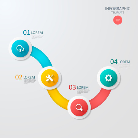 3d ring: modern vector abstract 3d ring infographic elements.can be used for workflow layout, diagram, number options, web design.  illustration ,