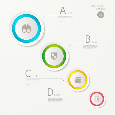 3d ring: modern vector abstract 3d ring  infographic elements.can be used for workflow layout, diagram, number options, web design.  illustration , Illustration