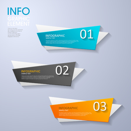 modern vector abstract step lable infographic elements.can be used for workflow layout, diagram, number options, web design.  illustration Ilustracja