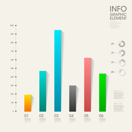 modern vector abstract bar chart infographic elements.can be used for workflow layout, diagram, number options, web design.  illustration ,EPS10 Ilustração