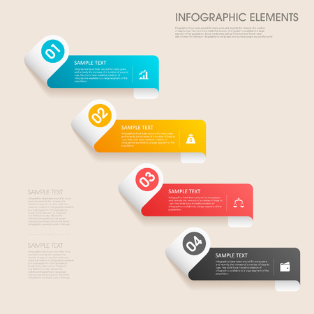 modern vector abstract step lable infographic elements.can be used for workflow layout, diagram, number options, web design.  illustration ,EPS10 Vector