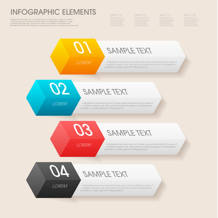 modern vector abstract step lable infographic elements.can be used for workflow layout, diagram, number options, web design.  illustration  Vector