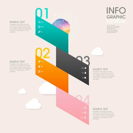 website banner: low poly style vector abstract origami paper infographic elements