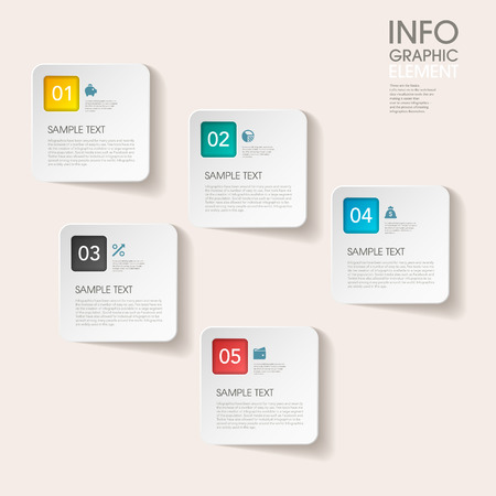 lable: modern vector abstract step lable infographic elements.can be used for workflow layout, diagram, number options, web design.  illustration Illustration