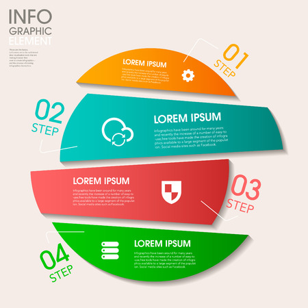 digital data: modern vector abstract step lable infographic elements.can be used for workflow layout, diagram, number options, web design.  illustration Illustration