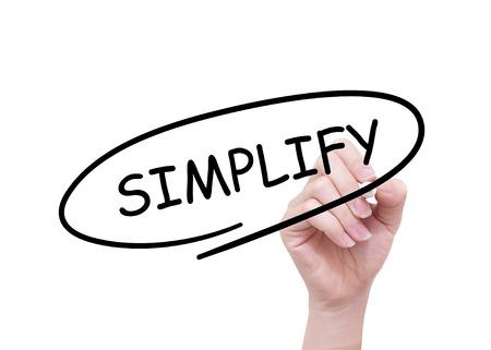 vereenvoudigen: