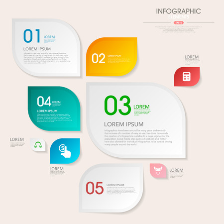 lable: business infographic template design with step lable elements.can be used for workflow layout, diagram, number options, web design.  illustration