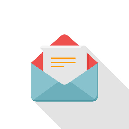 spam mail: Letter icon - vector , eps10 (flat icon , logn shadow) Illustration