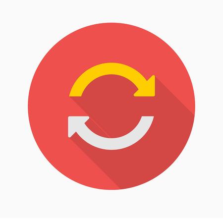 sync: Sync icon - vector , eps10 (flat icon , logn shadow) Illustration