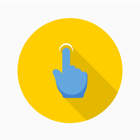 Finger touch icon - vector , eps10 (flat icon , logn shadow)  イラスト・ベクター素材
