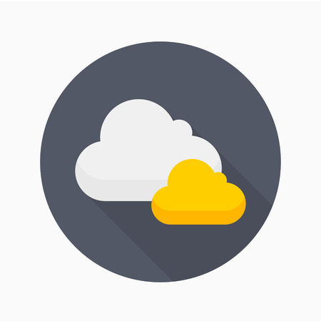 Cloud icon - vector , eps10 (flat icon , logn shadow)